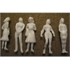 "Wee Scapes Architectural Model Human Figures Female 1/4"" 5-Pack"