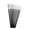 10-Piece Short Handle Hobby Brush Value Set