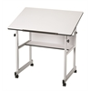 Alvin MiniMaster Table Gray Base with White Top
