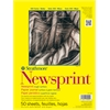 "Strathmore 300 Series 14"" x 17"" Rough Tape Bound Newsprint Pad"