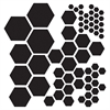 "The Crafter's Workshop 12"" x 12"" Design Template Hexagons"