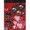 Hot Off the Press 3-D Papier Tole Die Cuts Fancy Hearts