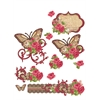 Hot Off the Press 3-D Papier Tole Die Cuts Music and Roses