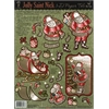 Hot Off the Press 3-D Papier Tole Die Cuts Jolly St. Nick