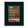 """8"""" x 10"""" Pre-Cut Single Layer Black Mat Kit"""