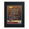 "Heritage Archival Series 11"" x 14"" Pre-Cut Double Layer Black Mat Kit"