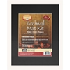 "Heritage Archival Series 11"" x 14"" Pre-Cut Single Layer Black Mat Kit"