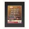 "Heritage Archival Series 11"" x 14"" Pre-Cut Single Layer Black Mat Kit"