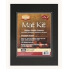 "11"" x 14"" Pre-Cut Double Layer Black Mat Kit"