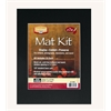 "11"" x 14"" Pre-Cut Single Layer Black Mat Kit"