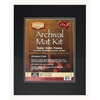 "Heritage Archival Series 16"" x 20"" Pre-Cut Double Layer Black Mat Kit"