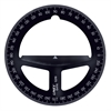 "4"" Translucent Black Circular Protractor"