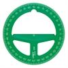 "Linex 4"" Translucent Green Circular Protractor"