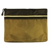 "10"" x 13"" Dual Zippered Pocket Fabric Mesh Bag"