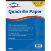 "Alvin Quadrille Paper 4x4 Grid 50-Sheet Pad 8.5"" x 11"""
