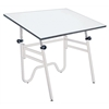 "Alvin Opal Table White Base White Top 31"" x 42"""