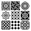 "12"" x 12"" Design Template Moroccan Tiles"