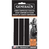 General's Jumbo Compressed Charcoal Sticks