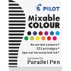 Pilot Parallel Pen Mixable Colour Refill 12-Pack Assorted Colors