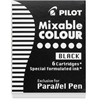 Parallel Pen Mixable Colour Refill 12-Pack Black