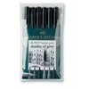 Artist Brush Pen Grey 6-Color Set
