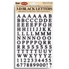 Pioneer Letter Stickers Black
