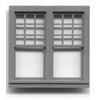"Generic 1/4"" Scale Architectural Components Queen Anne double window set of 4"
