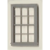 "Generic 1/4"" Scale Architectural Components 12-pane double hung window set of 4"