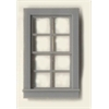 "Generic 1/4"" Scale Architectural Component 8-pane double hung window set of 4"