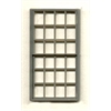 "Generic 1/4"" Scale Architectural Component 24-pane double hung window set of 3"