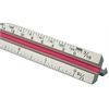"Fairgate T Series 18"" Solid Aluminum Engineer Triangular Scale"