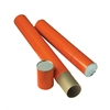 "Orange Fiberboard Tubes 37"""