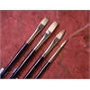 Good Natural Chinese Bristle Oil and Acrylic Brush Flat 12