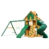 Mountaineer Clubhouse Treehouse Swing Set w/ Fort Add-On & Timber Shield