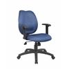 Boss Blue Task Chair W/ Adjustabl Arms