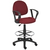 Boss Drafting Stool (B315-By) W/Footring And Loop Arms