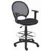 Boss Mesh Drafting Stool W/ Adjustable Arms