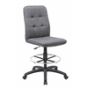 Boss Slate Grey Commercial Grade Linen  Drafting Stool