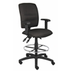 Boss Multi-Function Fabric Drafting Stool W/ Adjustable Arms