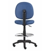 Boss Blue Fabric Drafting Stools W/Footring
