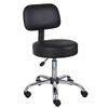 Boss Black Caressoft Medical Stool W/ Back Cushion