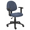 Boss Blue  Deluxe Posture Chair W/ Adjustable Arms