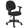 Boss Black  Deluxe Posture Chair W/ Adjustable Arms