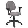 Boss Grey  Deluxe Posture Chair W/ Adjustable Arms