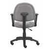 Boss Grey  Deluxe Posture Chair W/ Loop Arms