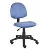 Boss Blue Microfiber Deluxe Posture Chair