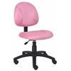 Boss Pink Microfiber Deluxe Posture Chair