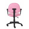 Boss Pink Microfiber Deluxe Posture Chair W/ Adjustable Arms.
