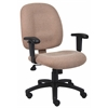 Boss Chestnut Fabric Task Chair W/ Adjustable Arms