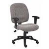 Boss Smoke Fabric Task Chair W/ Adjustable Arms